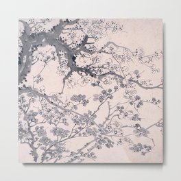 Plum Blossoms Metal Print