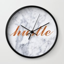 Hustle Marble Brass Copper Bronze Wall Clock