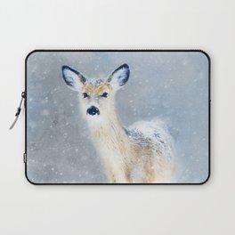 Doe In The Snow Laptop Sleeve