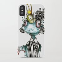 frog iPhone & iPod Cases featuring frog by krigkou petroula
