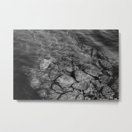 Under Water (Black and White) Metal Print