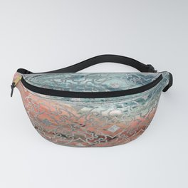 Silver glitter pattern on mother of pearl and jasper Fanny Pack