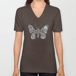 Frohawk the Mechanical Steampunk Butterfly Unisex V-Neck