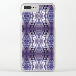 ultraviolet ice Clear iPhone Case