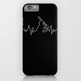 Baseball Heartbeat  Gift for Sport fans iPhone Case