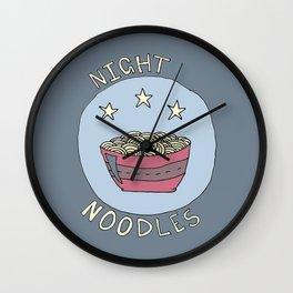 Night Noodles Wall Clock