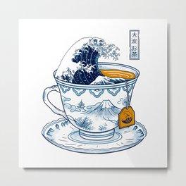 The Great Kanagawa Tee Metal Print