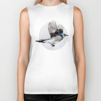 jay fleck Biker Tanks featuring Blue Jay by Condor