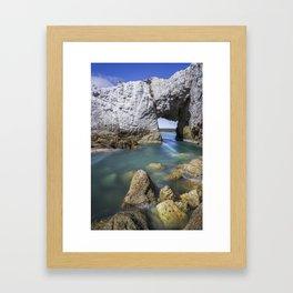 The White Arch  Framed Art Print