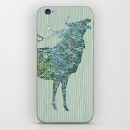 Elk Silhouette with Yosemite Snowfall Inlay iPhone Skin