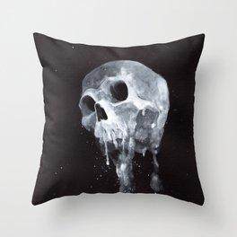 """Remains"" series, IV (Human skull) Throw Pillow"
