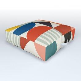 mid century retro shapes geometric Outdoor Floor Cushion