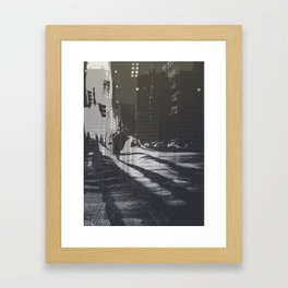 City collage Framed Art Print