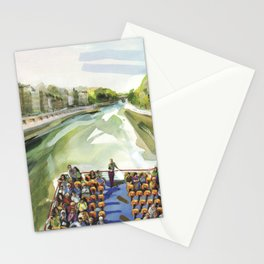A choppy Seine makes for a fun ride on the Bateau Mouche - Paris Stationery Cards