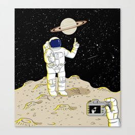 Posing Astronaut  Canvas Print