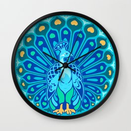 Peacock Emblem Wall Clock