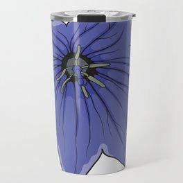 Blue Bellflower Lila Campanula Flower Travel Mug