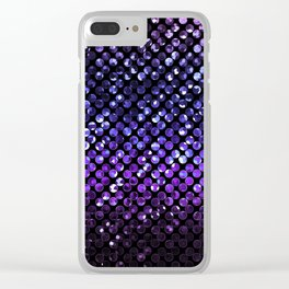 Crystal Bling Strass Purple G323 Clear iPhone Case
