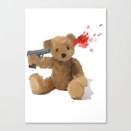 Suicide Teddy Canvas Print