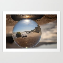 Beach Ball refraction photography with crystal ball Art Print