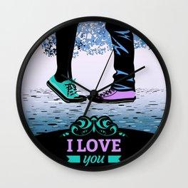 Couple Love massage texture Wall Clock