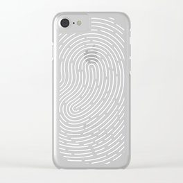 Fingerprint Clear iPhone Case