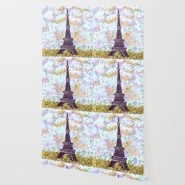 Eiffel Tower Pointillism by Kristie Hubler Wallpaper
