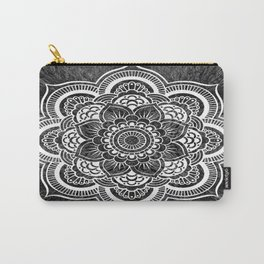 Mandala Slate Gray Colorburst Carry-All Pouch