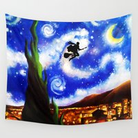 starry night Wall Tapestries featuring Starry Night by aleha