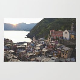Sunset over Vernazza, Italy Rug