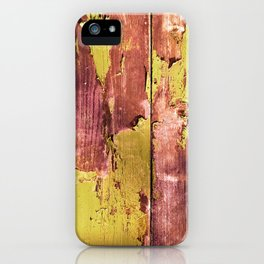 pea and rusty pink peel iPhone Case