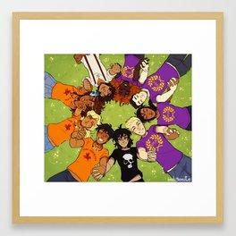 Olympus Heroes Framed Art Print