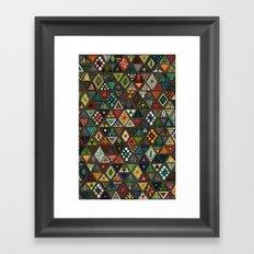 sun bear geo dark Framed Art Print