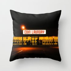 Coin Laundry Throw Pillow