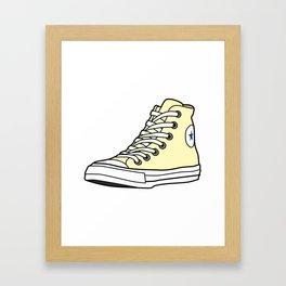High-Top Sneaker Framed Art Print