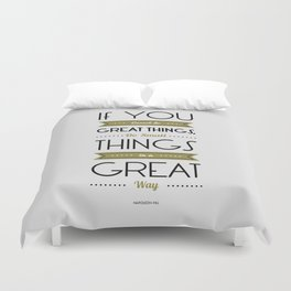 Lab No. 4 - Do Small things in a great way Napoleon Hill Motivational Quotes Poster Duvet Cover