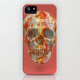 Red Candy Skull iPhone Case