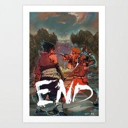 Naruto - END Art Print