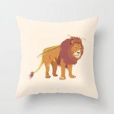 Bumblelion Throw Pillow