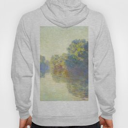 The Seine at Giverny Claude Monet 1897 Impressionist Oil Painting Nature Trees Lake Landscape Hoody