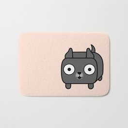 Pitbull Loaf - Blue Pitbull with Cropped Ears Bath Mat
