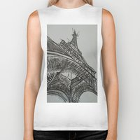 eiffel Biker Tanks featuring Eiffel by Esteban Garza