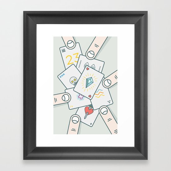 It Wasn't In the Cards Framed Art Print