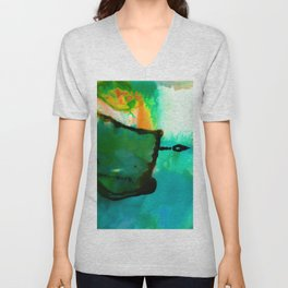 Abstract Bliss 4P by Kathy Morton Stanion Unisex V-Neck