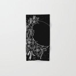 The Flower Moon; Crescent Moon; Feathers; Dream Catcher; Chalk Art Hand & Bath Towel