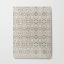 marbled green & pink pattern Metal Print