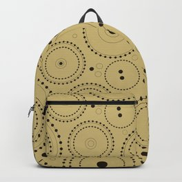Circles in Circles Design Black on Light Gold Backpack