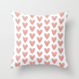 I Heart You in Pink and Coral Throw Pillow