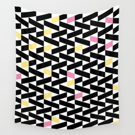 Black Pattern  Wall Tapestry