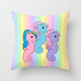 my little pony sea ponies Throw Pillow